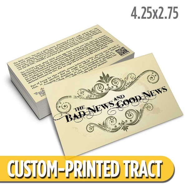 Custom 'Bad News Good News' Tract (4.25x2.75)