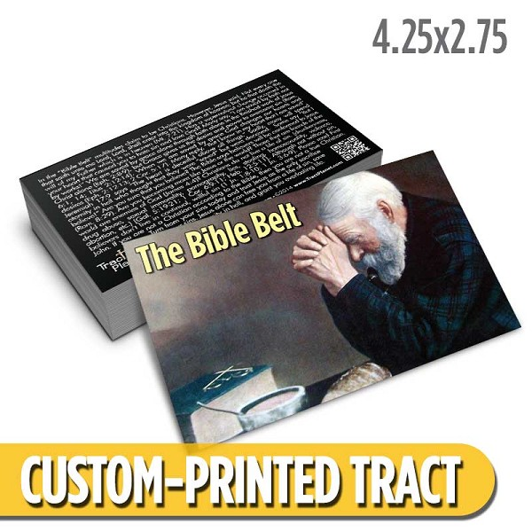 Custom 'Bible Belt' Tract (4.25x2.75)