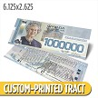Custom 'Canadian Million Dollar Bill' Gospel Tracts (6.125x2.625)
