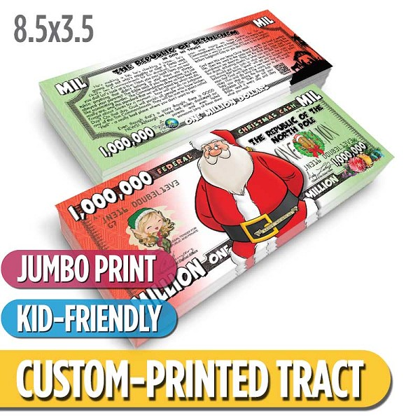 Custom 'Jumbo Christmas Cash' Tract (8.5x3.5)