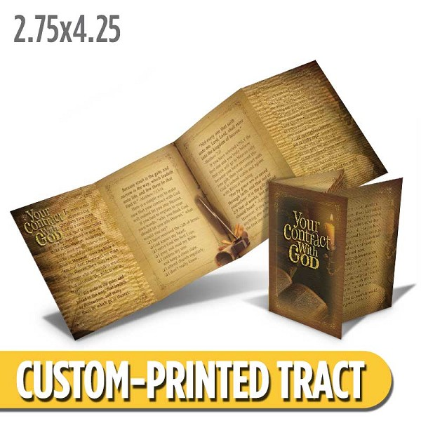 Custom 'Contract With God' Tract (Quad Fold)