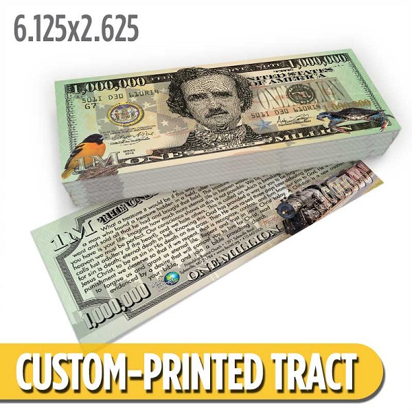 Custom 'Maryland Money' Gospel Tracts (6.125x2.625)