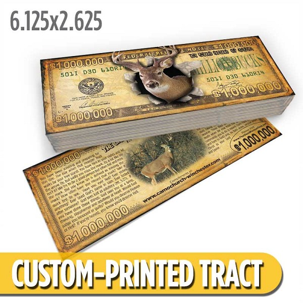 Custom 'Million Bucks' Gospel Tracts (6.125x2.625)