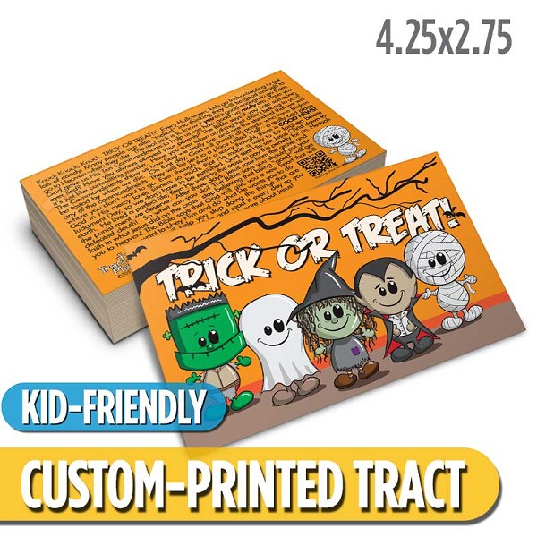 Custom 'Trick or Treat' Tract (4.25x2.75)