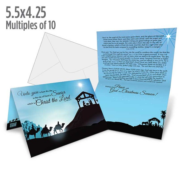 "Christmas Card - (Sold in Multiples of 10) - 4.25"" x 5.5"""
