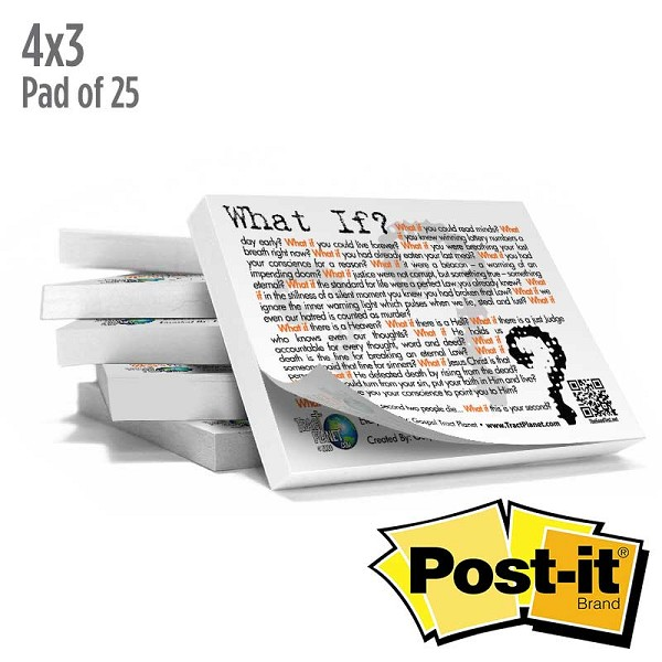 What If Post It Note (Pad of 25 Sticky Notes)