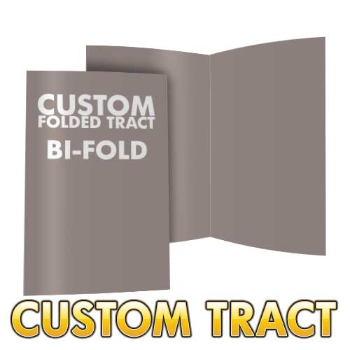 Custom Folded Tract - Bi-Fold (Larger)