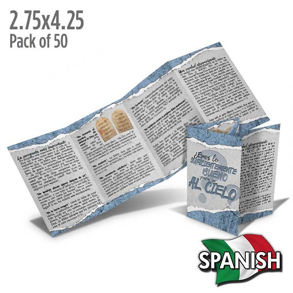 Spanish Are You Good Enough? Folded Tract (Pack of 50)