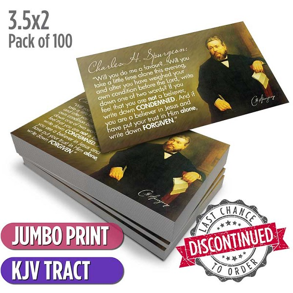 Spurgeon Card Tract (Pack of 100)
