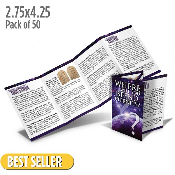 Where Will You Spend Eternity? Folded Tract (Pack of 50)