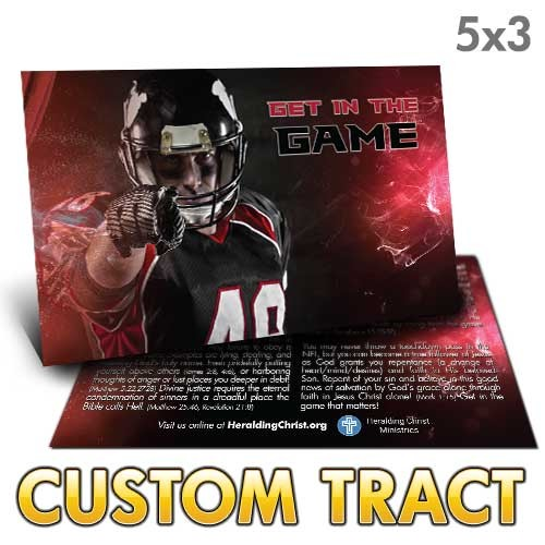 Custom Tract - Get In The Game