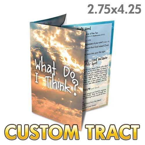 Custom 'I Never Knew You' Tract (Quad Fold)