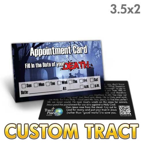 Custom 'Appointment Card' Tract (3.5x2)