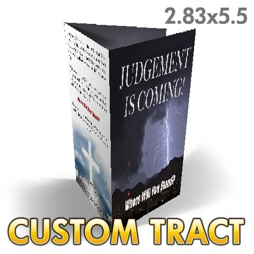 Custom 'Judgment Is Coming' Tract (Tri Fold)