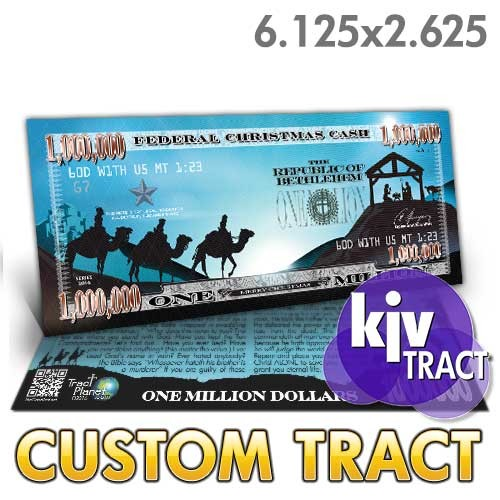 Custom 'Nativity Million Dollar Bill' tracts (6.25x2.625)