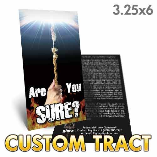 Custom 'Are You Sure?' Tract (3.25x6)