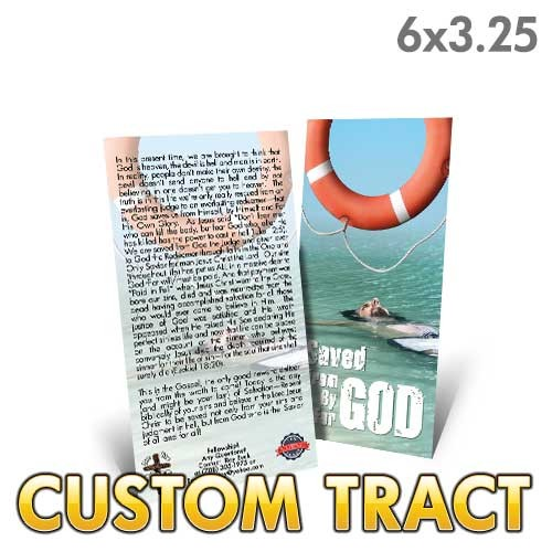 Custom Tract -Saved from God
