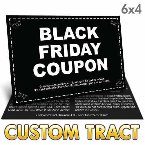 Custom Tract - Black Friday Coupon