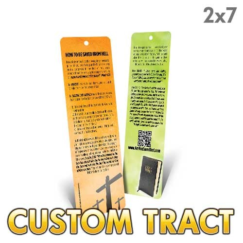 Custom 'Bookmark' Tract (9x2.5)
